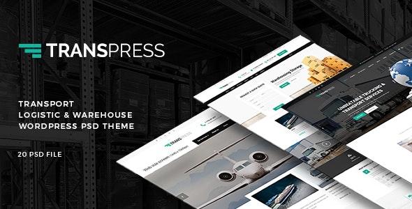 Transpress - Transport, Logistics & Warehouse PSD Template - Business Corporate