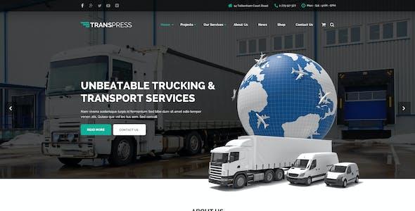 Transpress - Transport, Logistics & Warehouse PSD Template