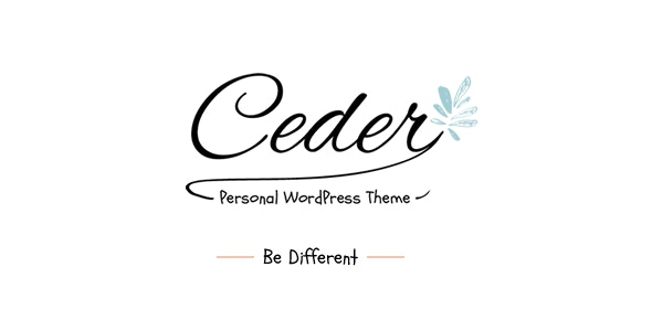 Ceder - Personal WordPress Blog Theme - Personal Blog / Magazine