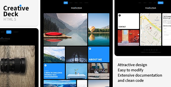 Creative Deck - Portfolio Template for Photographers - Photography Creative