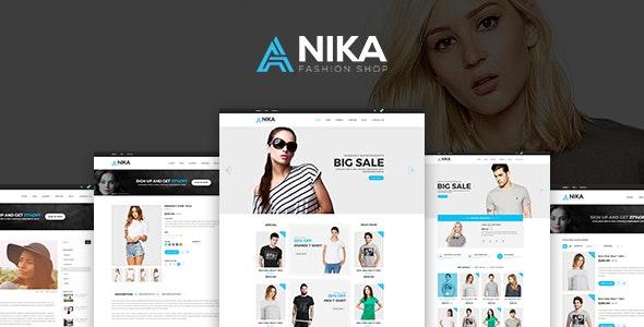 Anika Fashion Shop  PSD Template - Fashion Retail