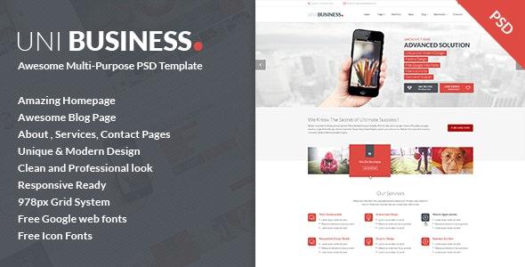 Uni Business Multi-Purpose PSD Template - Business Corporate