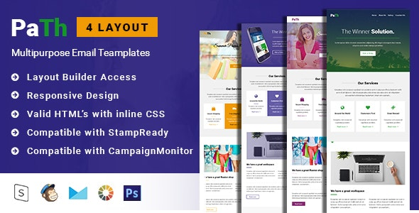 Path-Multipurpose Responsive Email Template with Stampready builder - Email Templates Marketing