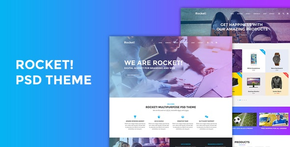 Rocket! PSD Theme - Creative PSD Templates