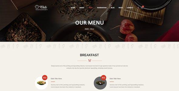Chili - Premium Restaurant Template