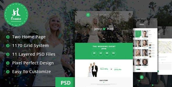 Evanica - General Wedding PSD Theme