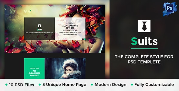 Suits - Business Portfolio Psd Template - Business Corporate
