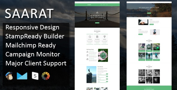 SAARAT - Multipurpose Responsive Email Template + Stampready Online Builder Access - Email Templates Marketing