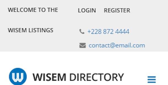 Wisem – Responsive Directory template for Joomla