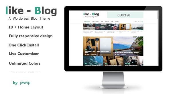 Like Blog - A WordPress Blog Theme - Personal Blog / Magazine