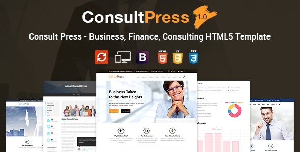 Consult Press - Finance & Consulting Business HTML5 Template - Business Corporate