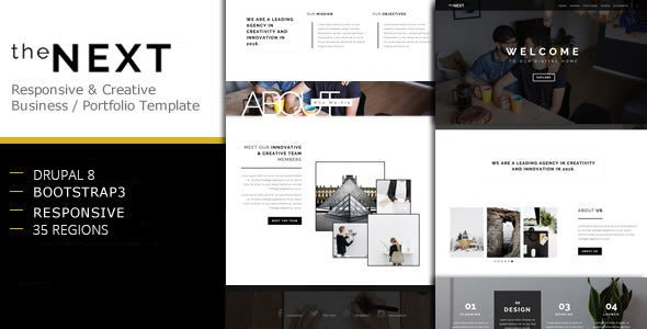 theNEXT - Creative Business Drupal 8 Theme - Creative Drupal