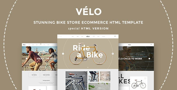 VELO – Bike Store Responsive HTML5 Template - Shopping Retail
