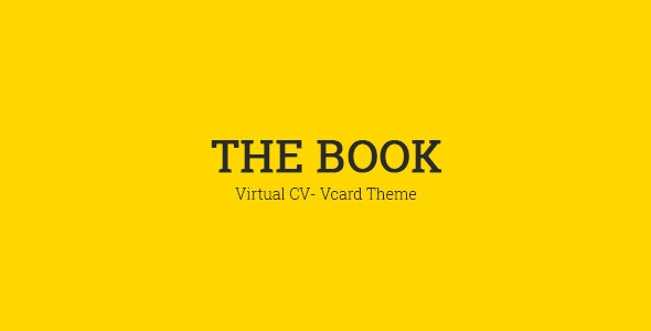 The Book : Personal vCard Template - Virtual Business Card Personal