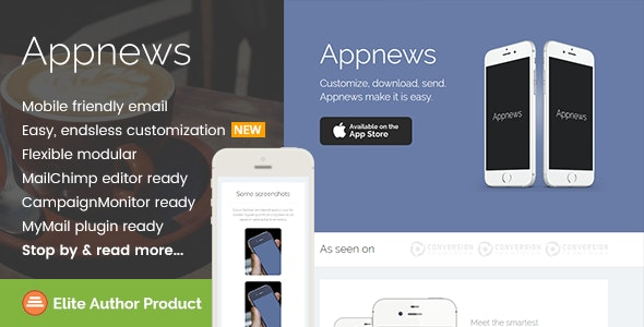 Appnews, Responsive Email Template for App Promo - Newsletters Email Templates