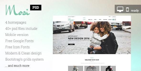 MOSI Fashion PSD template - Photoshop UI Templates