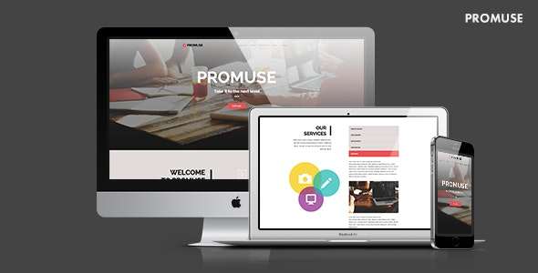 Promuse - Business Parallax Muse Template for Professionals - Corporate Muse Templates