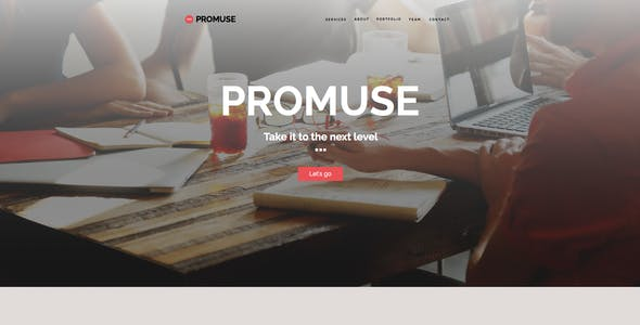 Promuse - Business Parallax Muse Template for Professionals