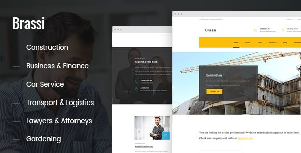 Brassi - Responsive Html Template For Your Business - Business Corporate