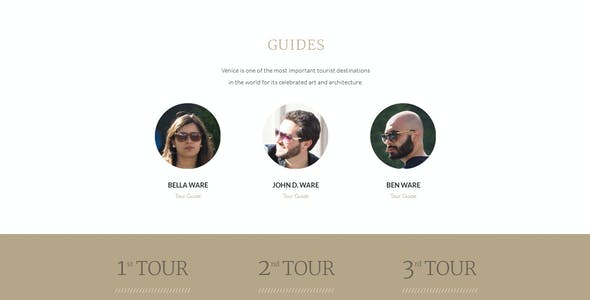 VENEDIC - Tour Guide - PSD Template