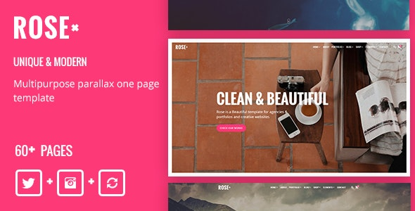 Rose - Multipurpose Responsive One Page Template - Creative Site Templates
