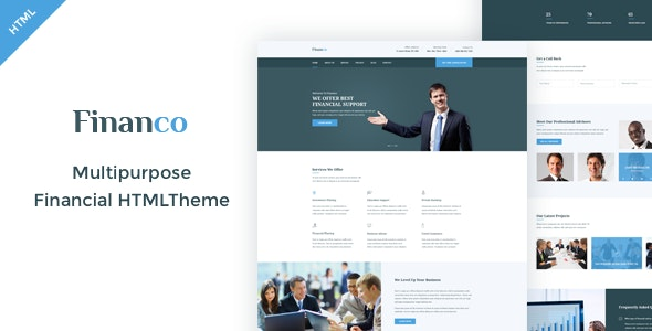 Financo - Finance & Investment HTML Template - Business Corporate