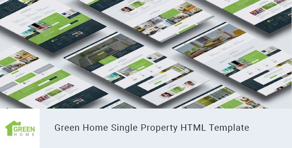 Green Home - Single Property Real Estate HTML Template - Corporate Site Templates