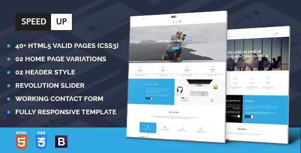 Speedup - Business Corporate and Portfolio Html Template - Business Corporate