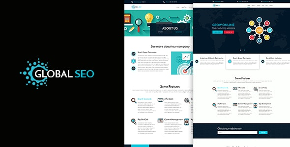 GLOBAL SEO - Marketing and SEO PSD Template - Marketing Corporate