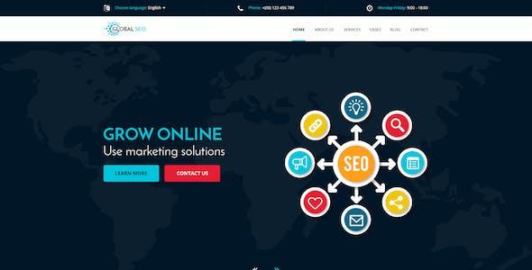 GLOBAL SEO - Marketing and SEO PSD Template