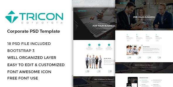 Tricon - Corporate PSD Template - Corporate Photoshop