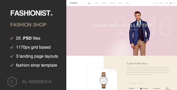 Fashionist - Fashion eCommerce PSD template - Fashion Retail