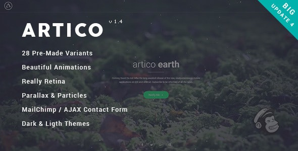 Artico - Responsive Coming Soon Template - Under Construction Specialty Pages