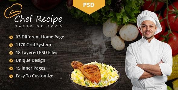 Recipe - Food PSD Template - Food Retail