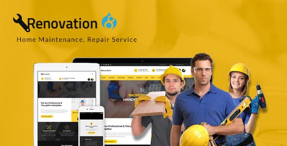 Renovation - Home Maintenance Service Drupal 8 Theme