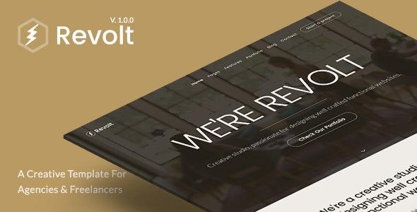 Revolt - Creative Portfolio Template for Agencies & Freelancers - Creative Site Templates