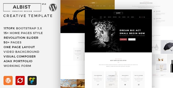 ALBIST - Creative Multipurpose WordPress Theme - Creative WordPress