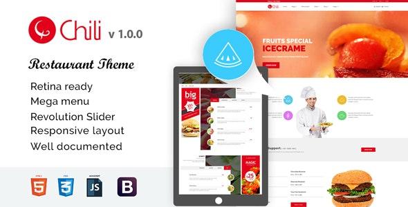 RedChili HTML5 Responsive Restaurent Template - Restaurants & Cafes Entertainment