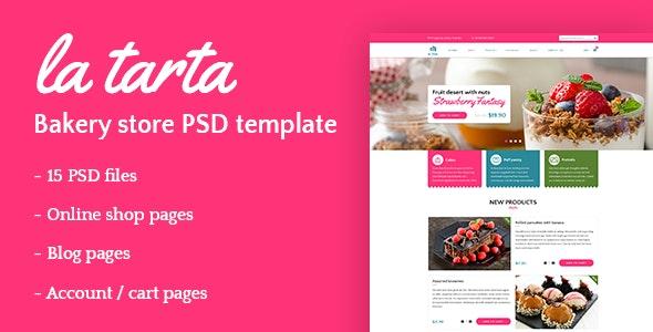 La tarta - Bakery Shop PSD Template - Food Retail
