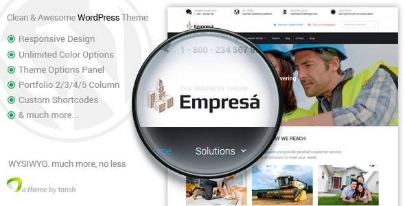 Empresa - Industry, Business, Finance WordPress Theme - Business Corporate