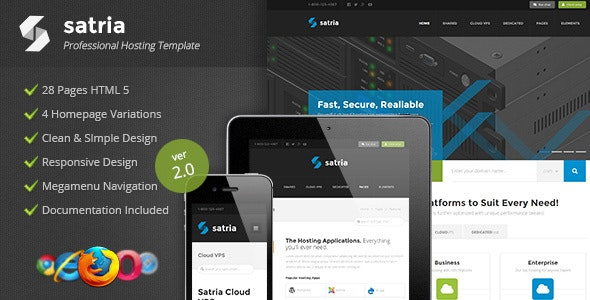 Satria - Professional Hosting HTML5 Template - Hosting Technology