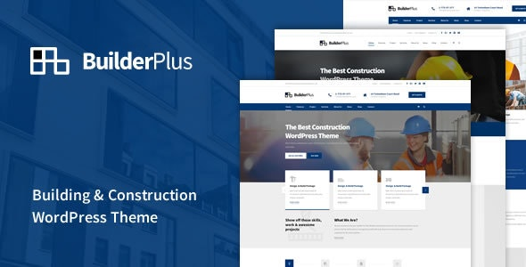 BuilderPlus - Building & Construction WordPress Theme - Business Corporate