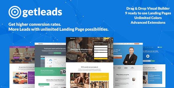 Thème WordPress de page de destination haute performance Getleads
