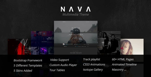 Nava - Music, Artist, Band, Radio | Ultimate Multimedia HTML Template - Music and Bands Entertainment