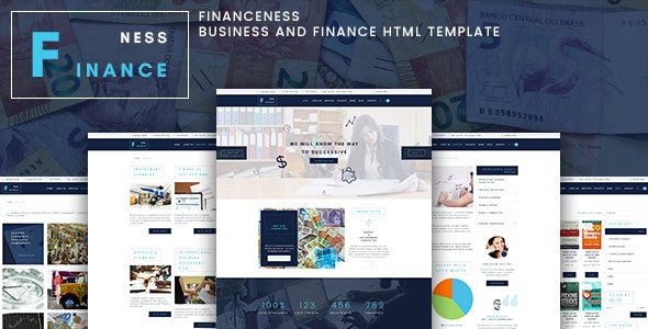 Financeness - Business and Finance Template - Business Corporate