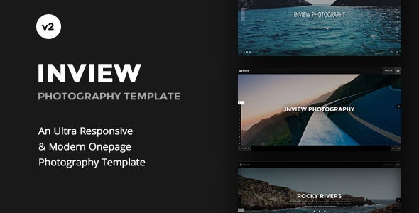 One page Photography WordPress Fullscreen Theme - Inview - Photography Creative