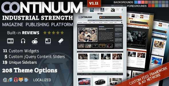 Continuum - Magazine Wordpress Theme - Blog / Magazine WordPress