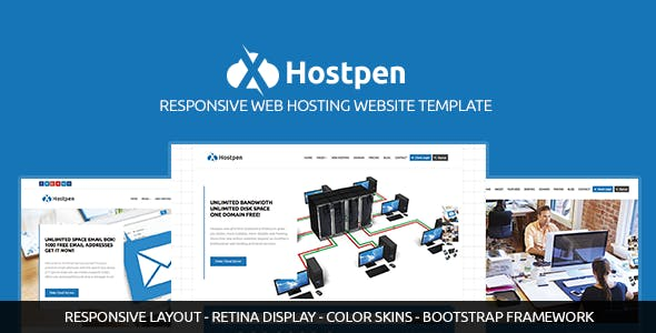 Hostpen | Responsive Web Hosting Domain Technology Site Template