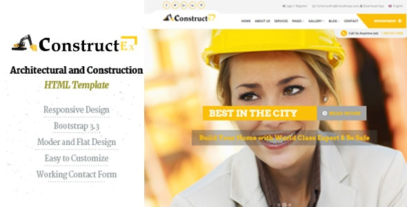 ConstructEx-Construction and Builder HTML Template - Business Corporate