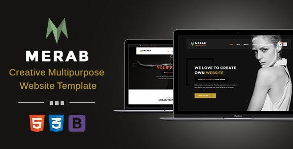 Merab - Creative Multipurpose Website Template - Business Corporate